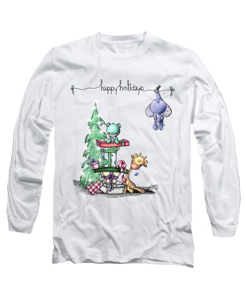 Long Sleeve T-Shirt featuring the painting Hanging Around For The Holidays by Lizzy Love