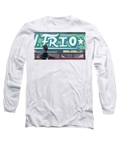 Long Sleeve T-Shirt featuring the photograph Hanging Out On Frio Street by Joe Jake Pratt