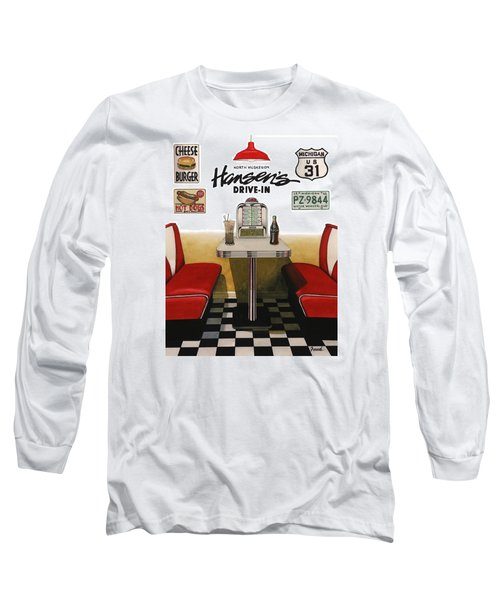 Hansen's Drive-in Long Sleeve T-Shirt by Ferrel Cordle