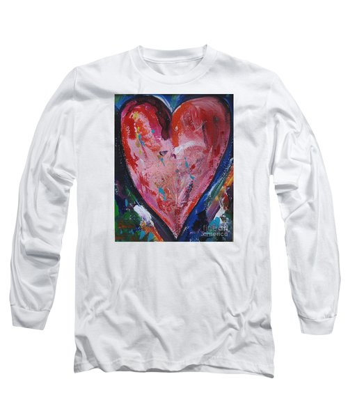 Long Sleeve T-Shirt featuring the painting Happiness by Diana Bursztein