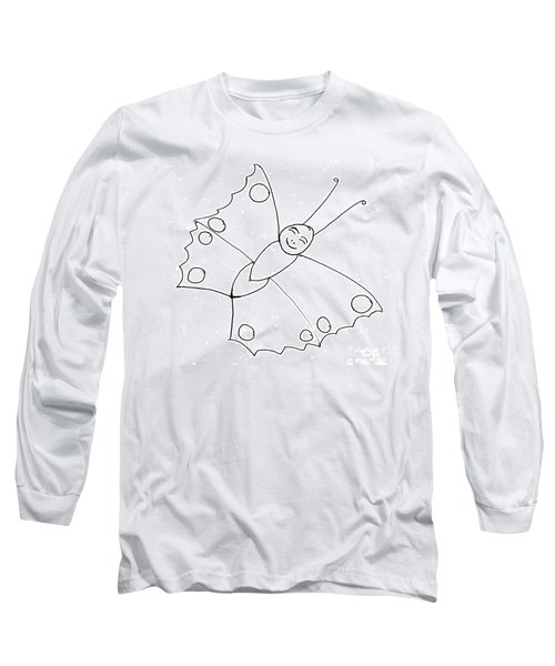 Happy Butterfly Long Sleeve T-Shirt