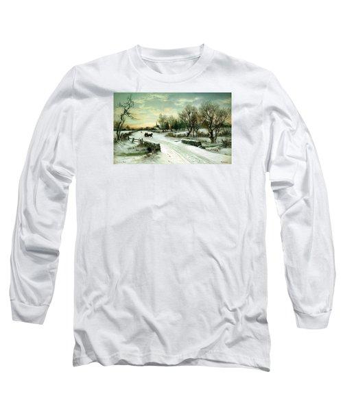Happy Holidays Long Sleeve T-Shirt by Travel Pics