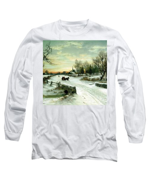 Long Sleeve T-Shirt featuring the painting Happy Holidays by Travel Pics