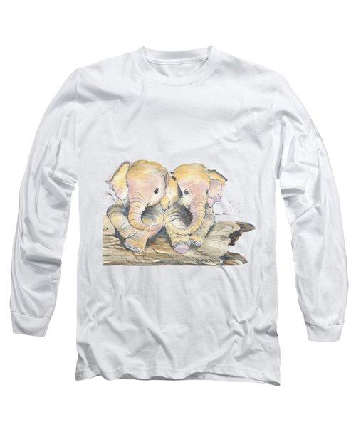 Happy Little Elephants Long Sleeve T-Shirt