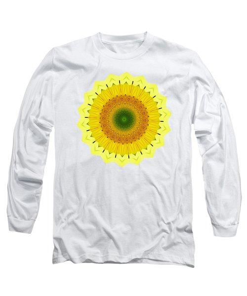 Happy Sunflower Mandala By Kaye Menner Long Sleeve T-Shirt
