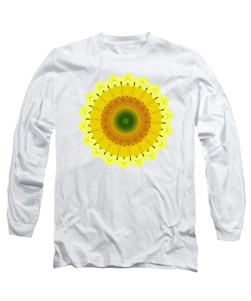 Happy Sunflower Mandala By Kaye Menner Long Sleeve T-Shirt