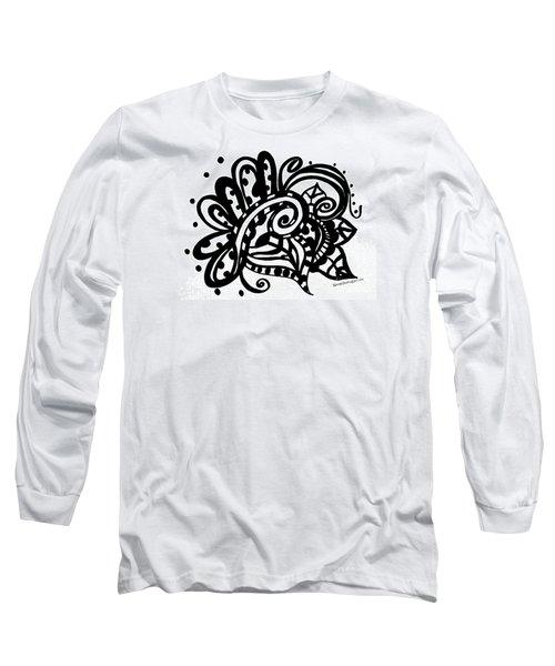 Happy Swirl Doodle Long Sleeve T-Shirt