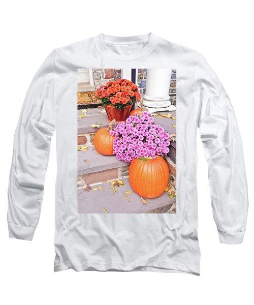 Happy Thanksgiving Long Sleeve T-Shirt by Ann Murphy