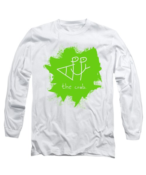 Happy The Crab - Green Long Sleeve T-Shirt