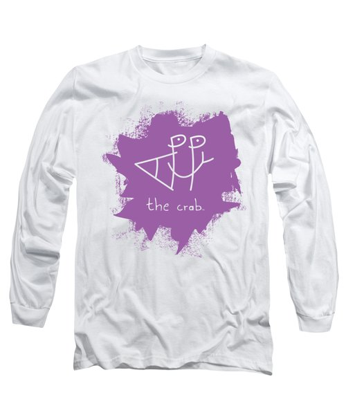 Happy The Crab - Purple Long Sleeve T-Shirt