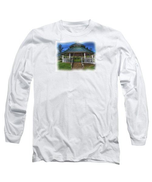 Long Sleeve T-Shirt featuring the photograph Happy Valley Gazebo Art  by Thom Zehrfeld