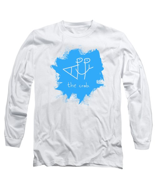 Happy The Crab - Blue Long Sleeve T-Shirt