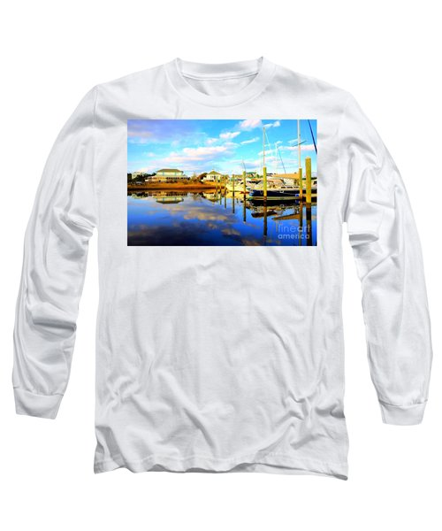 Long Sleeve T-Shirt featuring the photograph Harbour Reflections by Shelia Kempf