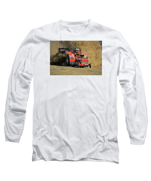 Hard Drive Pulling Tractor Long Sleeve T-Shirt by Mike Martin