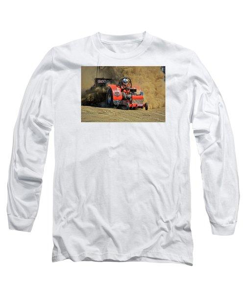 Hard Drive Pulling Tractor Long Sleeve T-Shirt