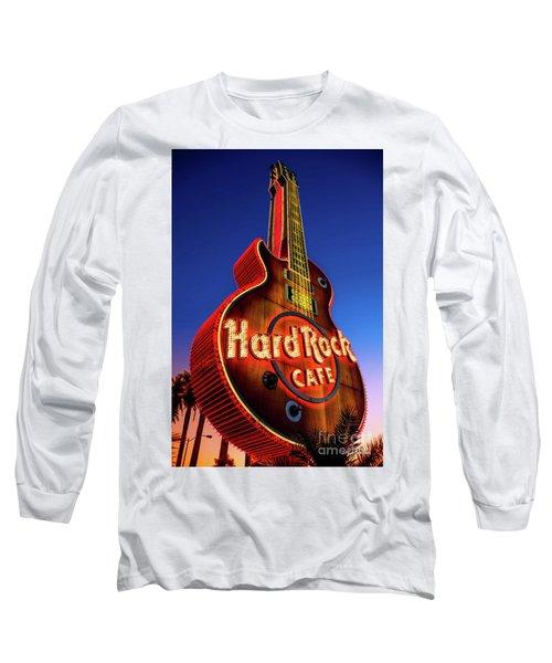 Hard Rock Hotel Guitar At Dawn Long Sleeve T-Shirt by Aloha Art