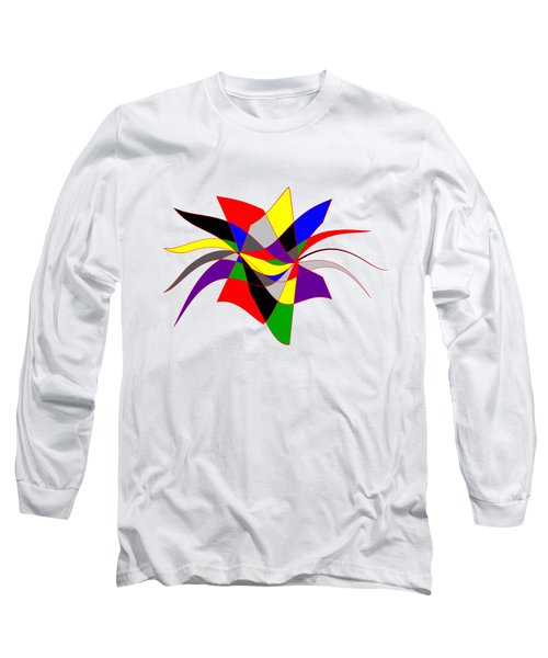 Harlequin Flower Long Sleeve T-Shirt by Methune Hively