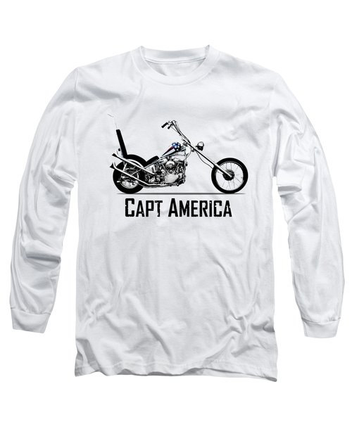 Harley Captain America Long Sleeve T-Shirt