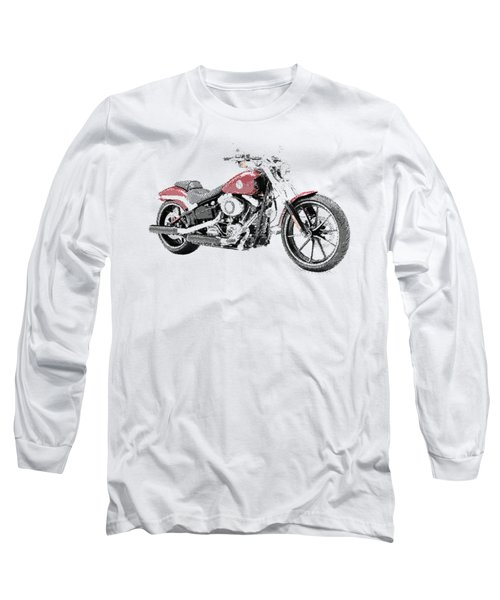 Harley-davidson Breakout - Parallel Hatching Long Sleeve T-Shirt