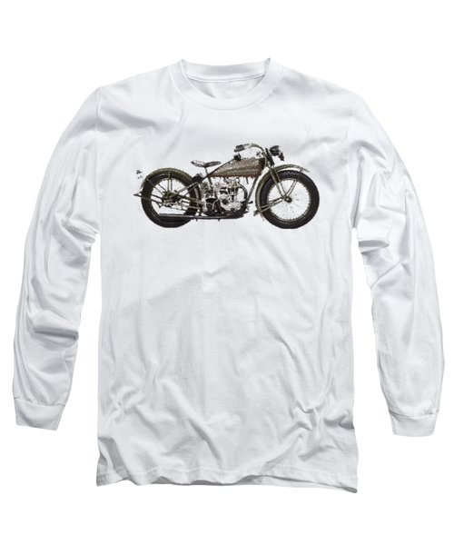 Harley-davidson Peashooter  - Parallel Hatching Long Sleeve T-Shirt
