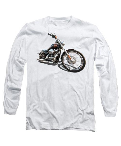 Harley Sportster Xl1200 Custom Long Sleeve T-Shirt by Gill Billington