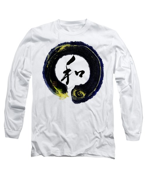 Harmony - Peace With Enso Long Sleeve T-Shirt by Peter v Quenter