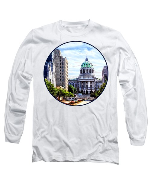 Harrisburg Pa - Capitol Building Seen From State Street Long Sleeve T-Shirt