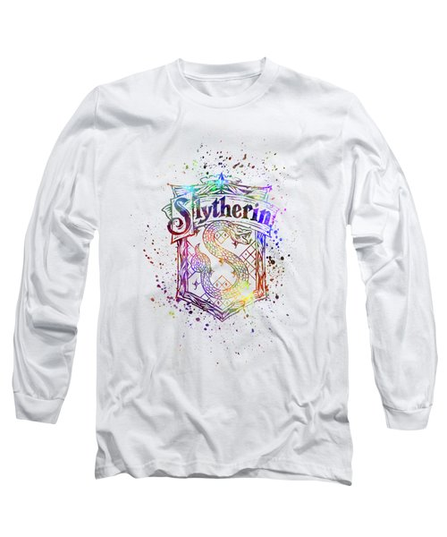 0266043cf Harry Potter Slytherin House Silhouette Long Sleeve T-Shirt