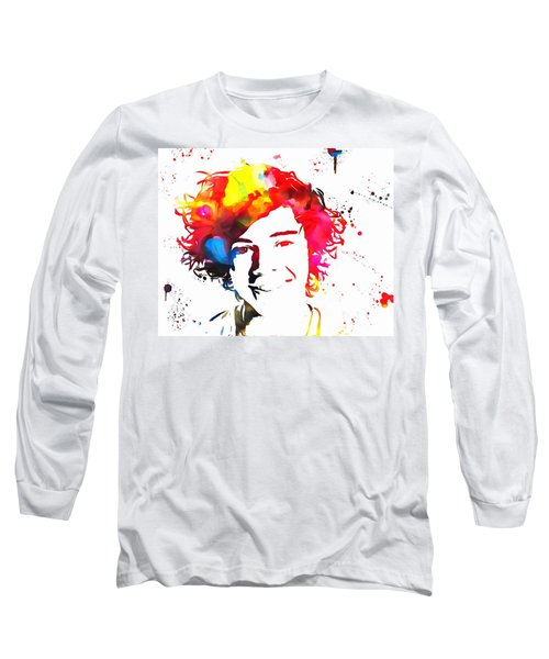 Harry Styles Paint Splatter Long Sleeve T-Shirt by Dan Sproul