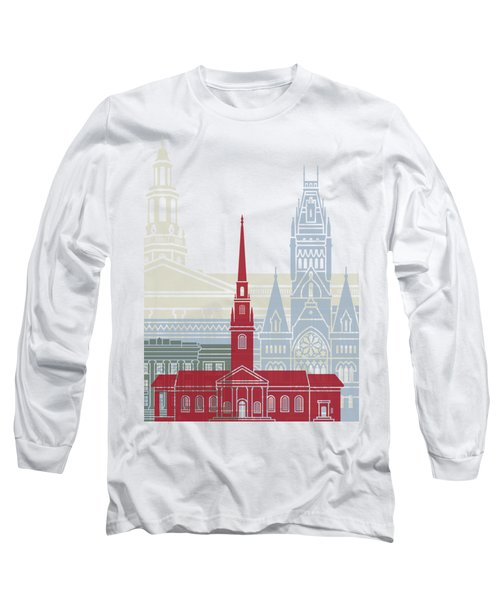 Harvard Skyline Poster Long Sleeve T-Shirt