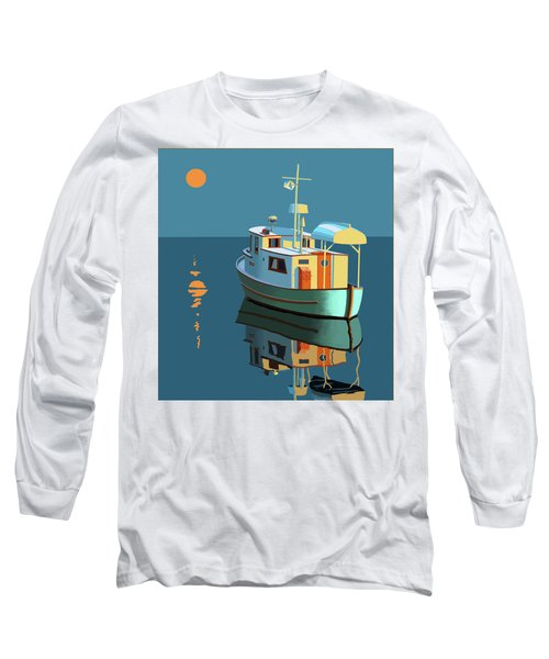 Long Sleeve T-Shirt featuring the painting Harvest Moon by Gary Giacomelli