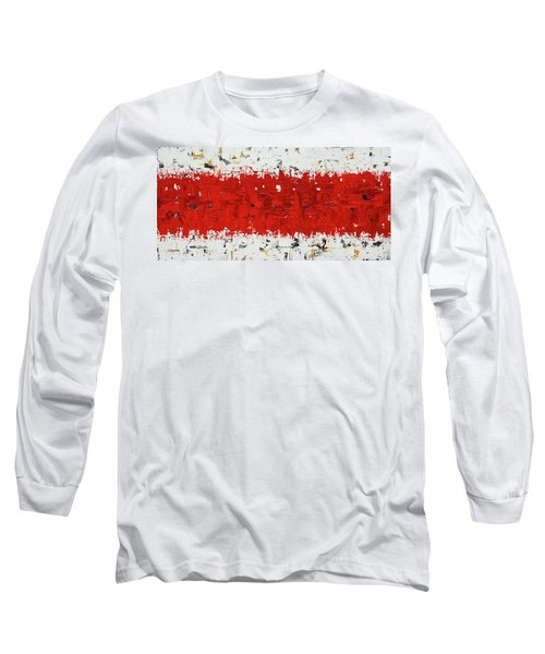 Long Sleeve T-Shirt featuring the painting Hashtag Red - Abstract Art by Carmen Guedez