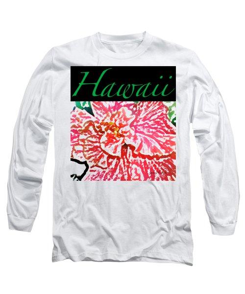Hawaii Blush T-shirt Long Sleeve T-Shirt by James Temple
