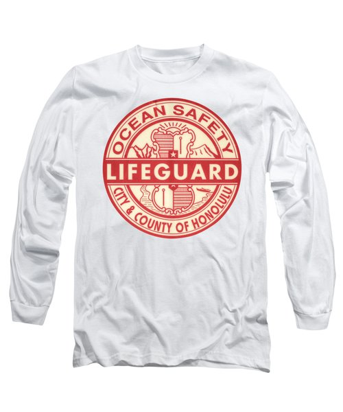 Hawaii Lifeguard Logo Long Sleeve T-Shirt by Mr Doomits