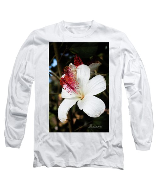 Long Sleeve T-Shirt featuring the photograph Hawaiian Hibiscus  by Joann Copeland-Paul