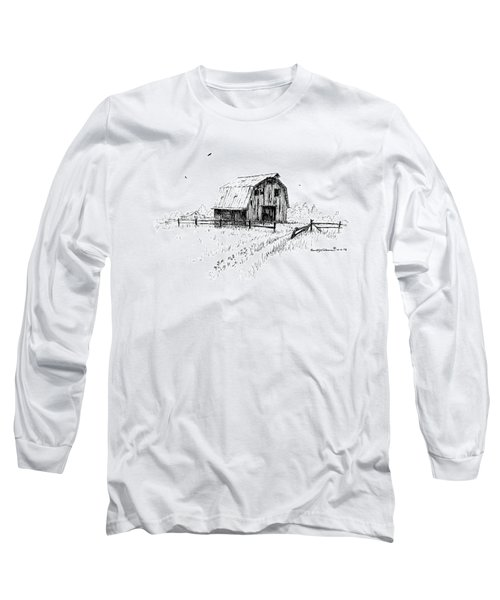 Hay Barn With Broken Gate Long Sleeve T-Shirt