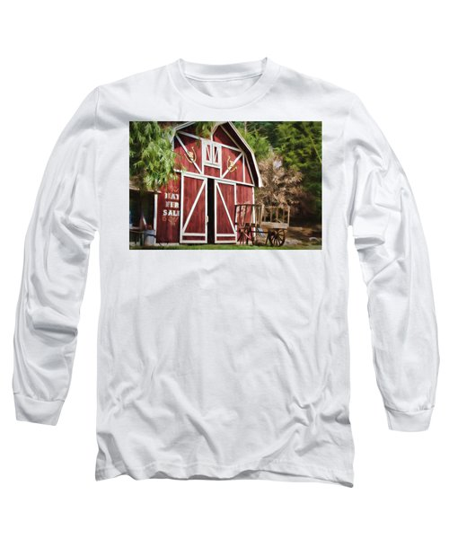 Long Sleeve T-Shirt featuring the photograph Hay Fer Sale by Lana Trussell