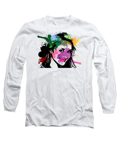 Hayden Panettiere Pop Art Long Sleeve T-Shirt