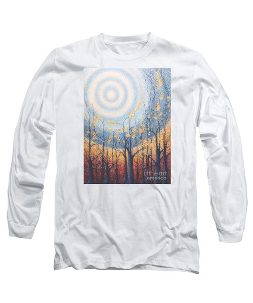Long Sleeve T-Shirt featuring the painting He Lights The Way In The Darkness by Holly Carmichael