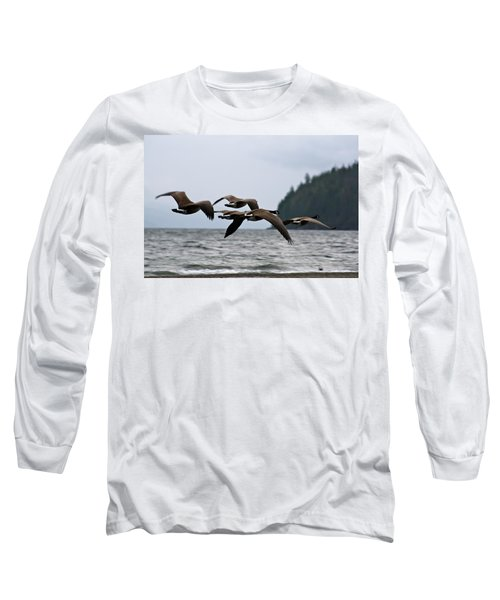 Long Sleeve T-Shirt featuring the photograph Heading South by Cathie Douglas