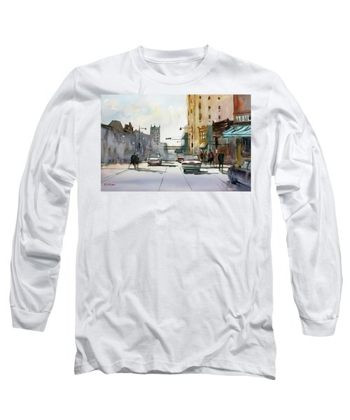 Heading West On College Avenue - Appleton Long Sleeve T-Shirt