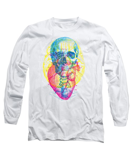 Heart Brain Skull Long Sleeve T-Shirt