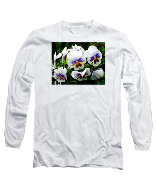 Heart Ease In White Long Sleeve T-Shirt