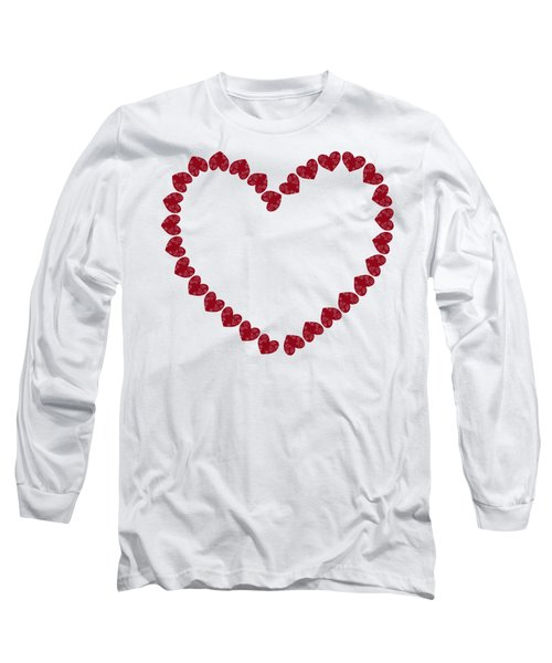 Heart From Red Hearts Long Sleeve T-Shirt by Frank Tschakert