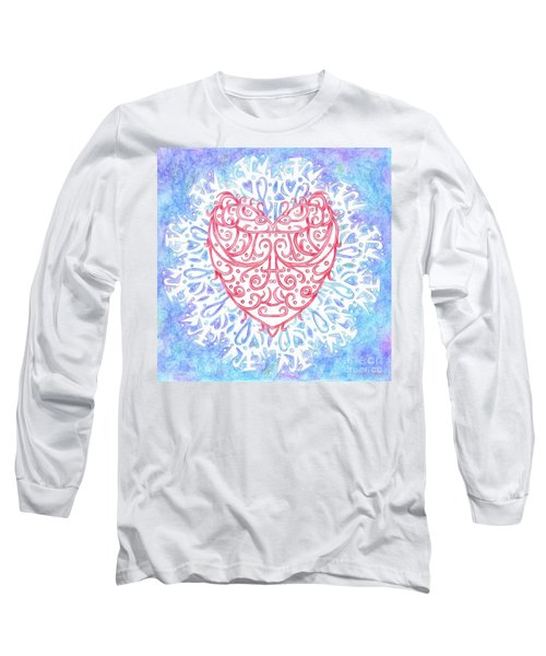 Heart In A Snowflake II Long Sleeve T-Shirt