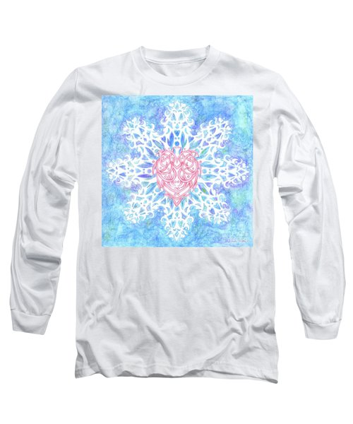 Heart In Snowflake Long Sleeve T-Shirt