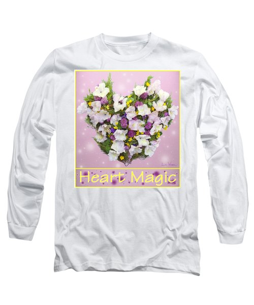 Long Sleeve T-Shirt featuring the digital art Heart Magic by Lise Winne