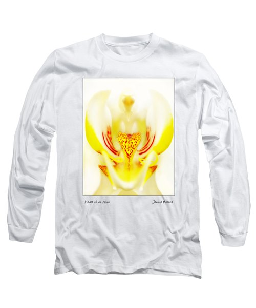 Long Sleeve T-Shirt featuring the photograph Heart Of An Alien by Jennie Breeze