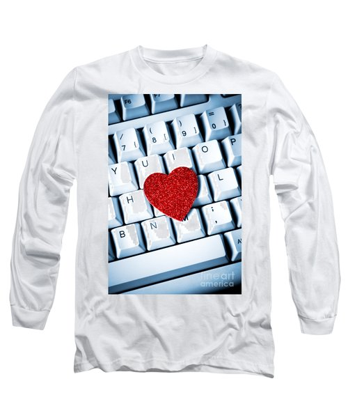 Heart On Keyboard Long Sleeve T-Shirt