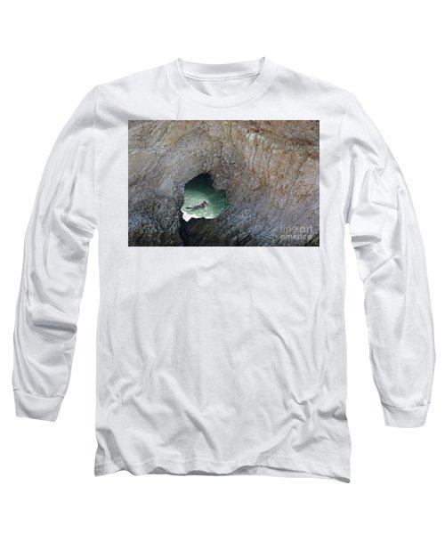 Heart Rock Otter Long Sleeve T-Shirt